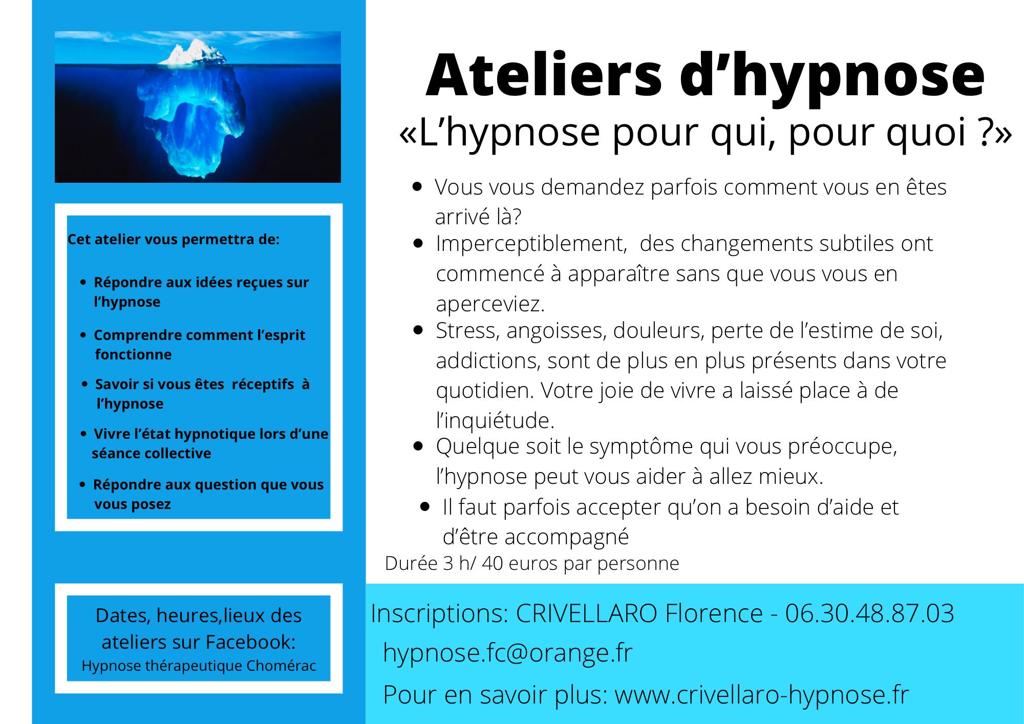 Atelier découverte de l'hypnose